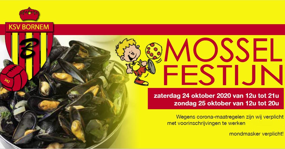 Mosselfestijn 24 en 25 oktober (voorinschrijving)