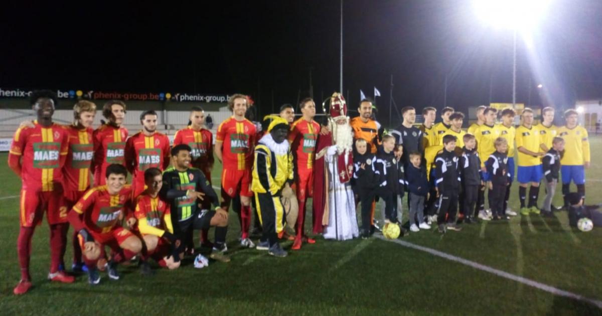 Sint geeft aftrap op beloftenwedstrijd KSV Bornem