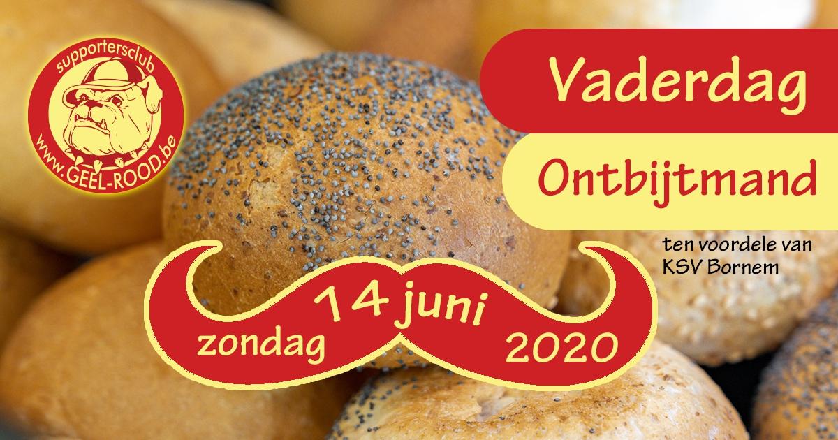 Ontbijtmand op Vaderdag 14 juni 2020
