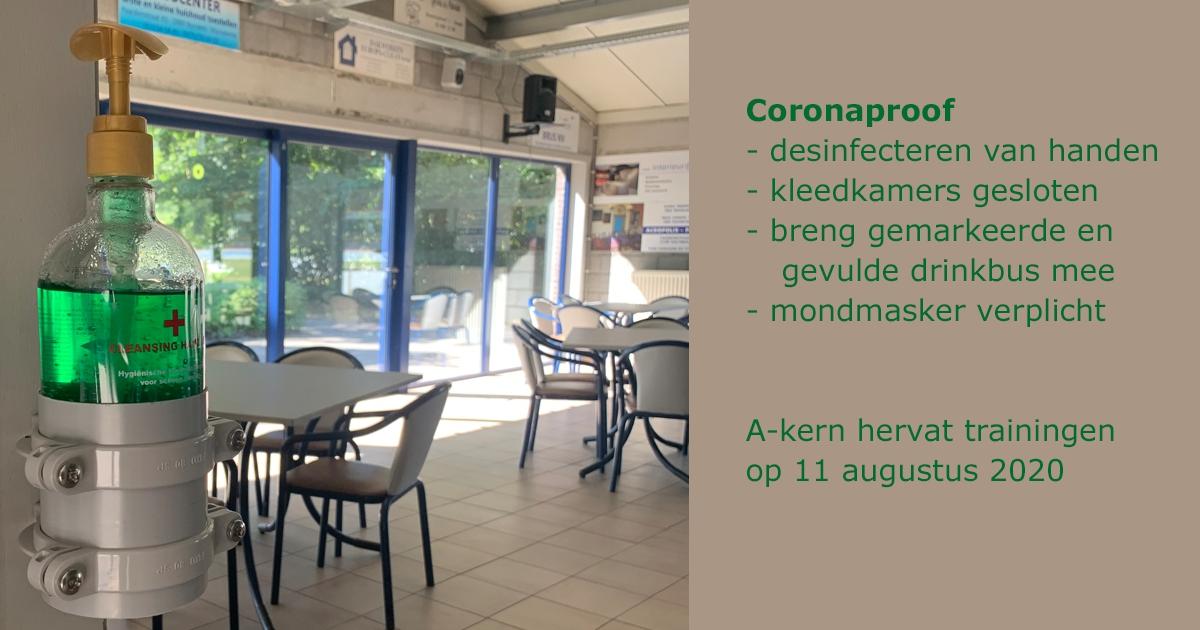 KSVB is coronaproof, A-kern hervat op 11/08