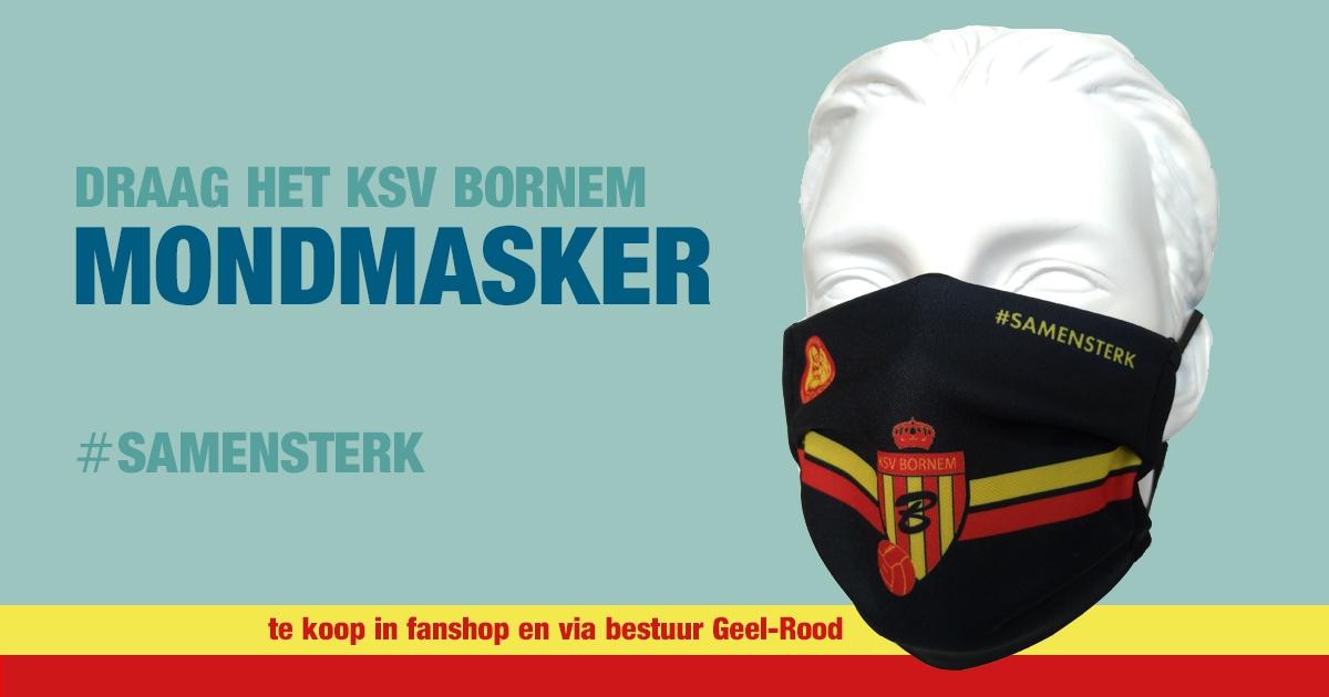 Mondmaskers met logo KSV Bornem