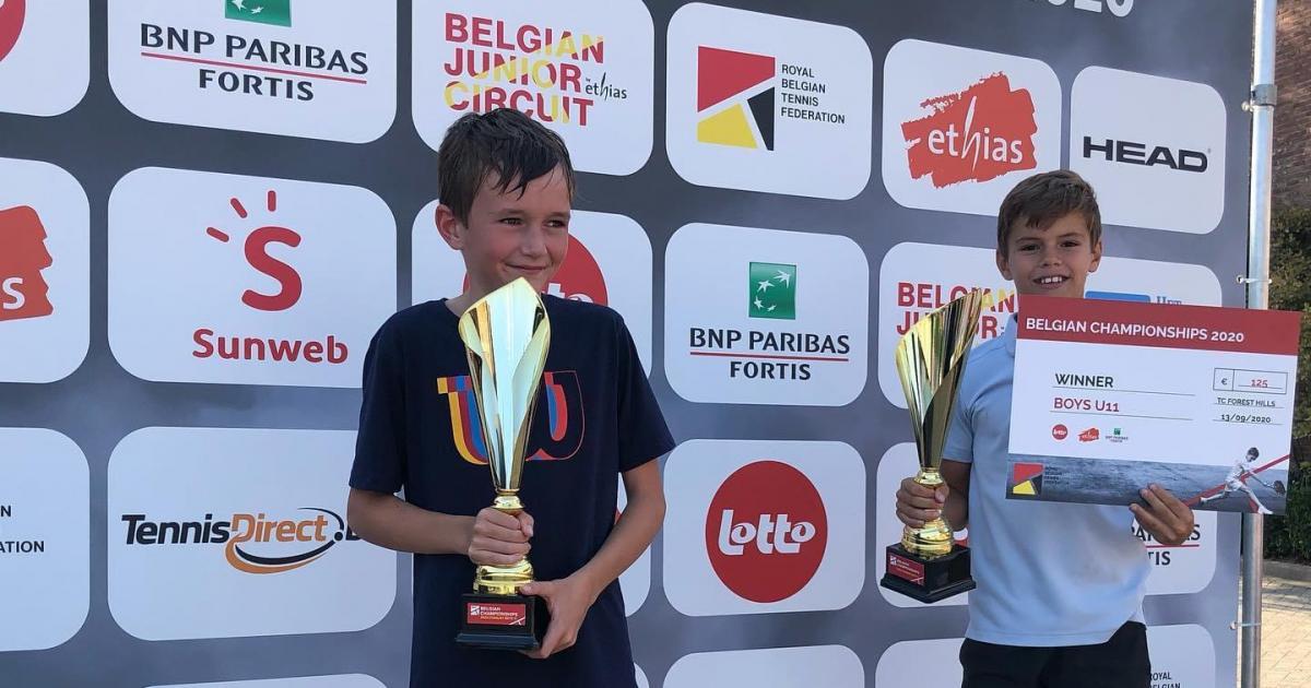 Speler U12 werd Belgisch Kampioen tennis