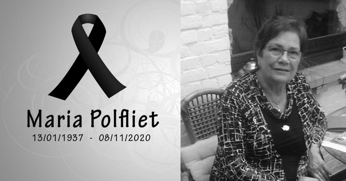 Maria Polfliet overleden