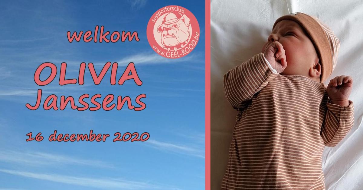 Welkom OLIVIA Janssens !