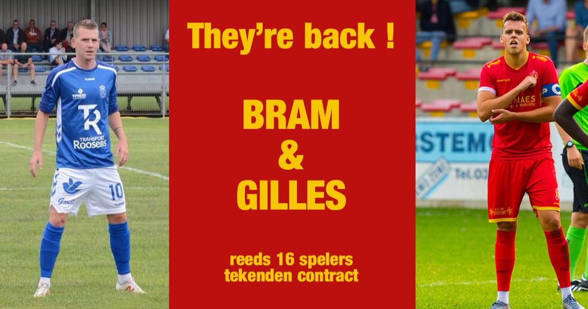 Welkom thuis Gilles & Bram!  Reeds 14 blijvers