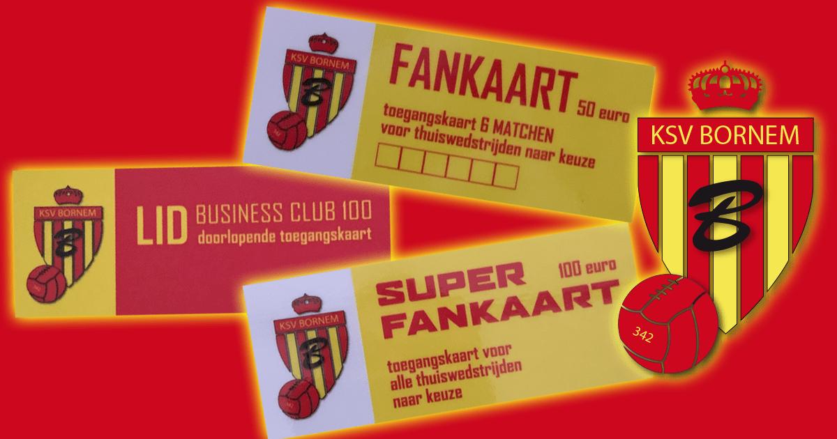 KSV Bornem pakt uit met FAN kaarten