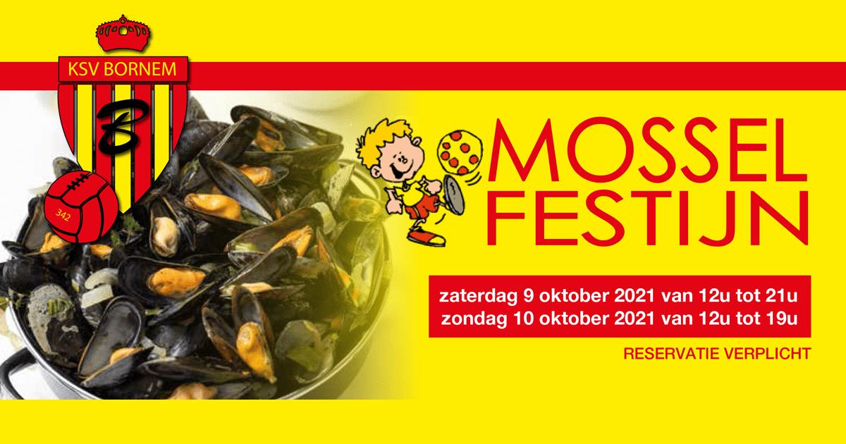 Mosselfestijn 9 en 10 oktober (registratie verpl.)